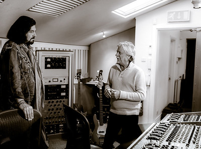 Alan Parsons talks with Terry Britten at State of the Ark Studios