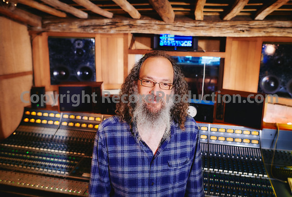 Andrew Sheps in the control room of Monnow Valley Studios, Wales, UK