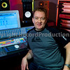 Andy Bradfield in the studio