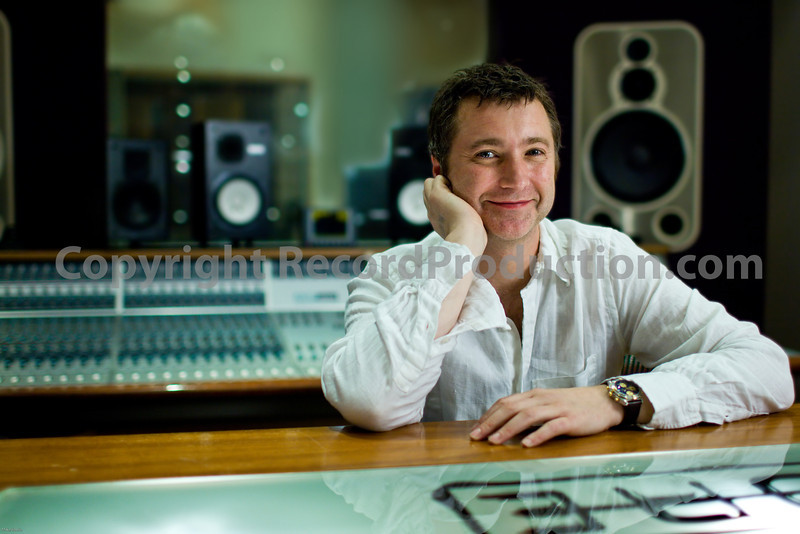 """Record producer Chris Sheldon in the recording studio<br /> PUBLISHED:  Resolution Magazine, UK  -- Watch Chris Sheldon in an exclusive video interview here:  <a href=""""http://www.recordproduction.com/chris-sheldon.html"""">http://www.recordproduction.com/chris-sheldon.html</a>"""