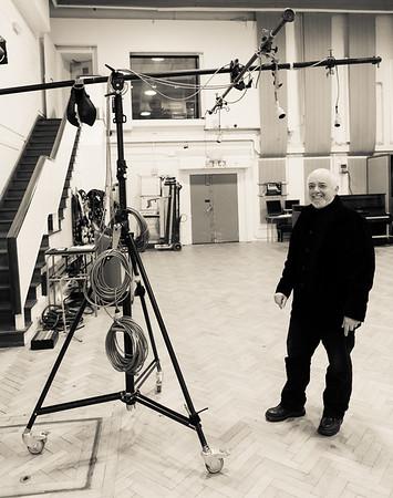 Craig Leon in Studio Two at Abbey Road Studios