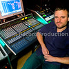 Damien Egan.  Song writer and music producer Damien Egan in his privater recording studio, UK.