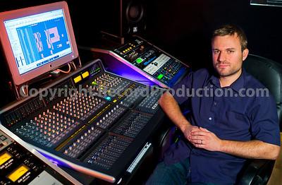 Damien Egan.  Song writer and music producer Damien Egan in his privater recording studio, UK.