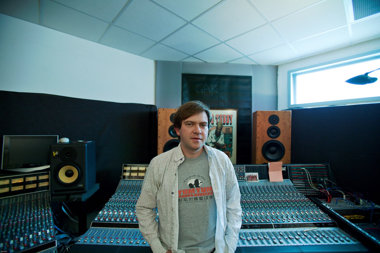 """Music producer Dan Carey at his private recording studio in London   --  Watch our VIDEO interview with Dan Carey:  <a href=""""http://www.recordproduction.com/dan-carey-record-producer.htm"""">http://www.recordproduction.com/dan-carey-record-producer.htm</a>"""