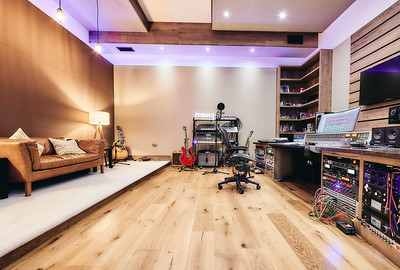Dan Gautreau's new recording studio near Fife, Scotland