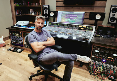 Dan Gautreau with SSL console behind