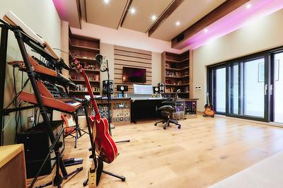 Dan Gautreau's new recording studio near Fife, Scotland