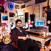 Producer and writer Ed Harcourt at his recording studio in London