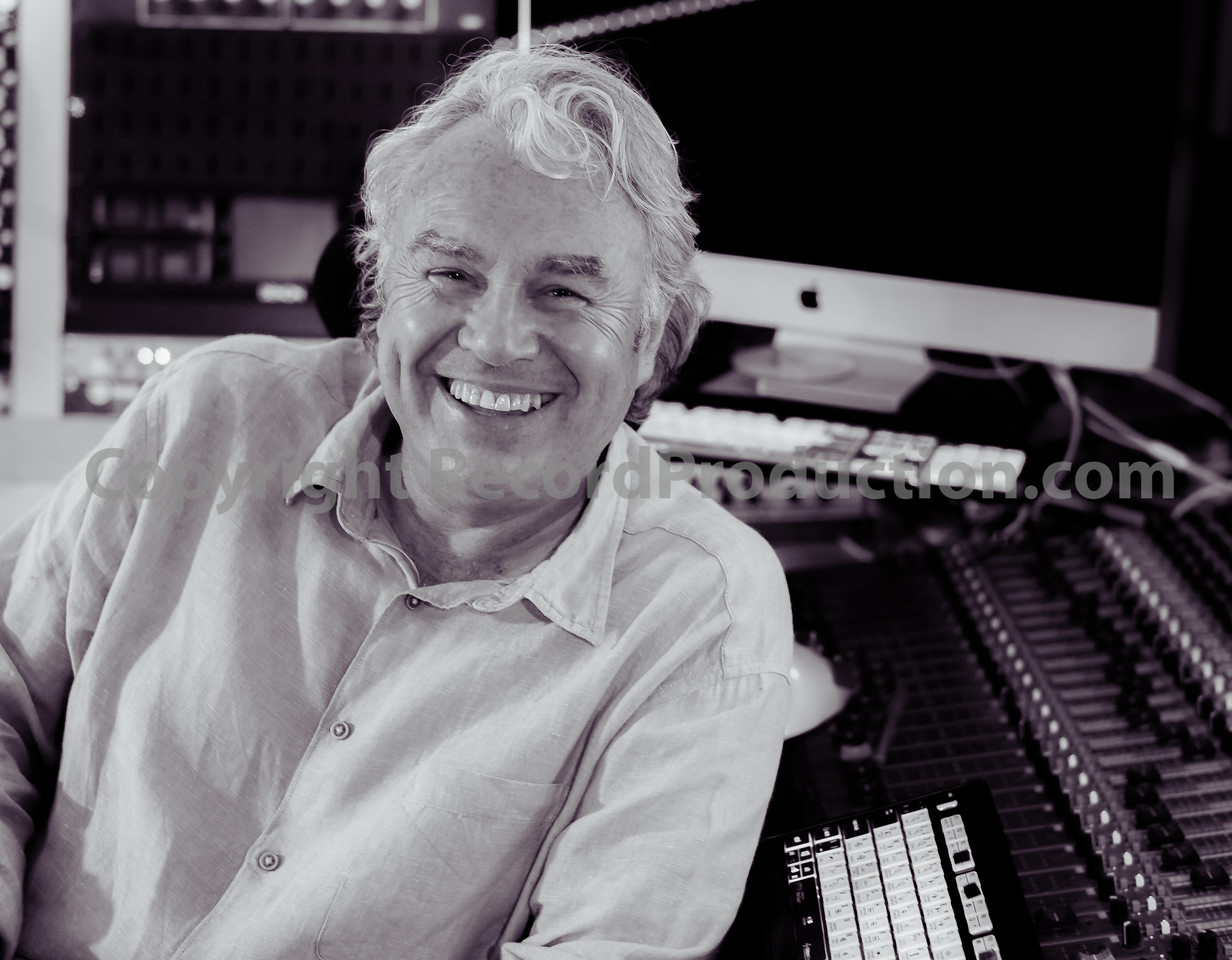 Gary Stevenson, Record Producer, in his recording studio