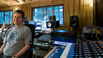 Record producer, recording engineer, musician and writer George Shilling at his recording studio in the Cotswolds, UK  --  Watch producer George Shilling in our video features:  http://www.recordproduction.com/george-shilling-record-producer.htm
