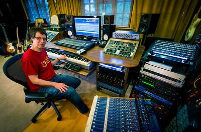 George Shilling at Bank Cottage Studios