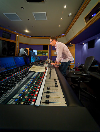 Recording and mix engineer Jake Jackson behind the controls at Air Recording Studios London UK   Watch our video interview with Jake Jackson:  http://www.recordproduction.com/record-producer-features/jake-jackson-engineer640.htm