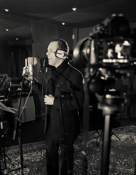Lance Ellington recording vocals at Livingston Studios