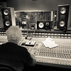 Recording engineer Jerry Boys at the controls of the SSL mixing desk recording at Livingston Studios