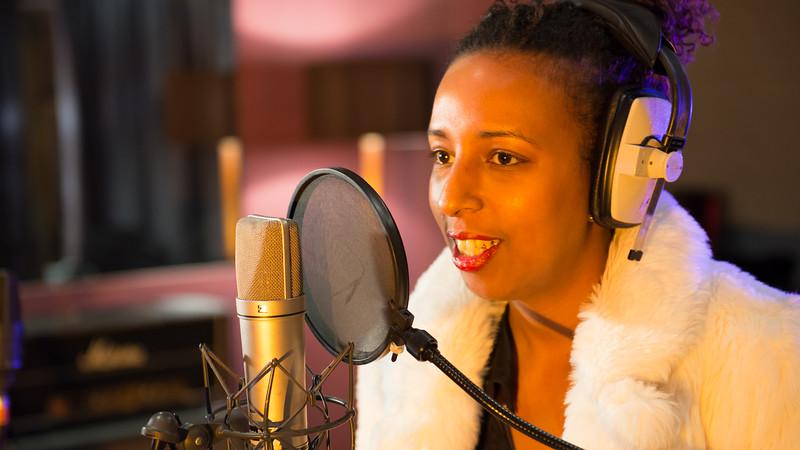Fahan Hassan recording at Livingston Studios London