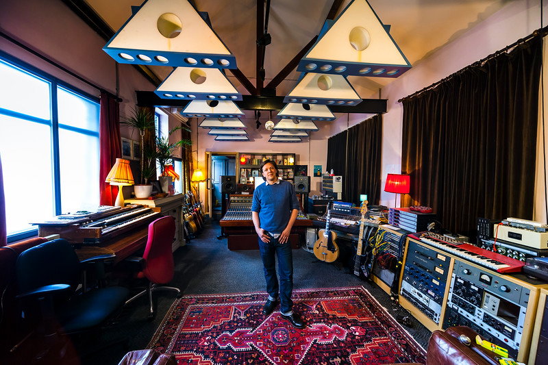 """Musician and music producer Jimmy Hogarth in his recording studio, London, England<br /> Watch our video interview with Jimmy here: <a href=""""http://www.recordproduction.com/record-producer-features/jimmy-hogarth-producer.htm"""">http://www.recordproduction.com/record-producer-features/jimmy-hogarth-producer.htm</a>"""
