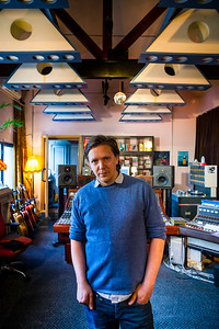 Musician and music producer Jimmy Hogarth in his recording studio, London, England Watch our video interview with Jimmy here: http://www.recordproduction.com/record-producer-features/jimmy-hogarth-producer.htm