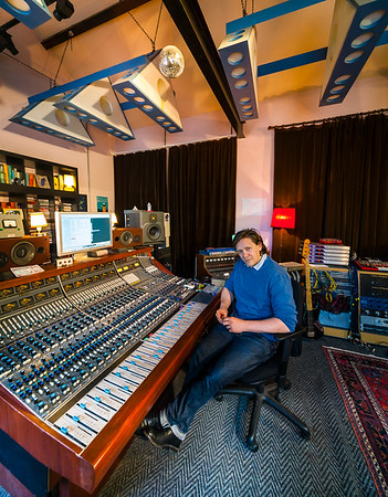 Music producer Jimmy Hogarth at his recording studio