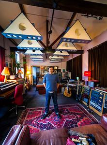 Music producer Jimmy Hogarth at his recording studio