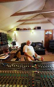 Legendary recording engineer Keith Grant photos taken at his private recording studio