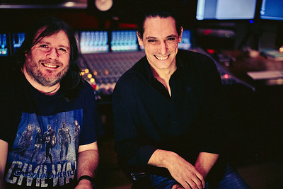 Laurent Dupuy with Mike Exeter at Dean Street Studios