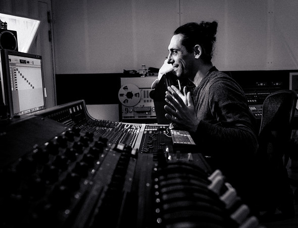 Laurent Dupuy at the mixing desk