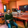 Producer and engineer Mark Hutchinson at Rooksmere Recording Studios, UK