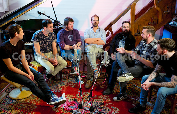 L-R, Russ Cottier, Clint Murphy, Mike Exeter, Stuart Jones, Russ Russell, Oliver Craggs, Niall Thomas.