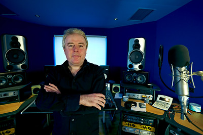 Music producer Mike Bennett at Far Heath Studios, Northamptonshire, UK.   -  Watch Mike Bennett's video interviews here:  http://www.recordproduction.com/mike-bennett.html