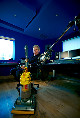 Mike Bennett with Dyson Hoover at Far Heath Studios, Northamptonshire, UK. PUBLISHED Resolution Magazine   -  Watch Mike Bennett's video interviews here:  http://www.recordproduction.com/mike-bennett.html