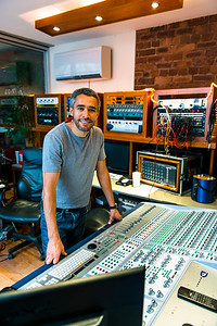 Mike Cave, mixing engineer and producer, at Loft Studios, Liverpool