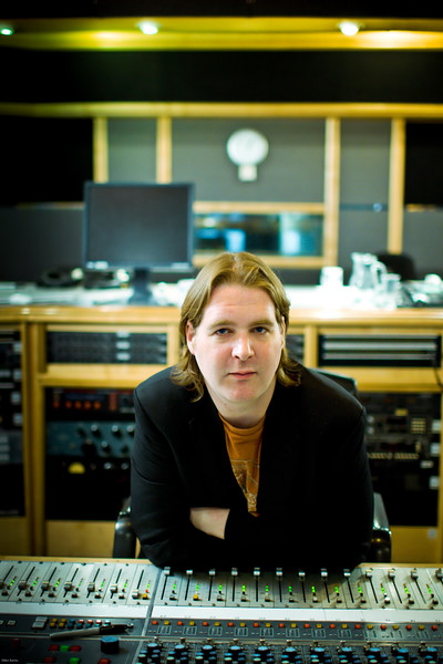 """Record producer Mike Crossey at Air Recording Studios, London.  Mike produced the latest Razorlight album<br /> PUBLISHED:  Resolution Magazine, UK   --  Watch our video interviews with Mike Crossey here:  <a href=""""http://www.recordproduction.com/mike-crossey.html"""">http://www.recordproduction.com/mike-crossey.html</a>"""