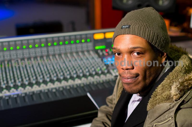 Mikey Godfrey, recording engineer and music producer at Grosvenor Road Studios, Birmingham, UK