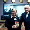"""Phil Harding and Pete Waterman pictured in front of an MCI 500 mixing desk at Glamorgan Universities recording studio facility, Cardiff, UK   Watch the Phil Harding video interviews:  <a href=""""http://www.recordproduction.com/phil_harding.htm"""">http://www.recordproduction.com/phil_harding.htm</a>"""