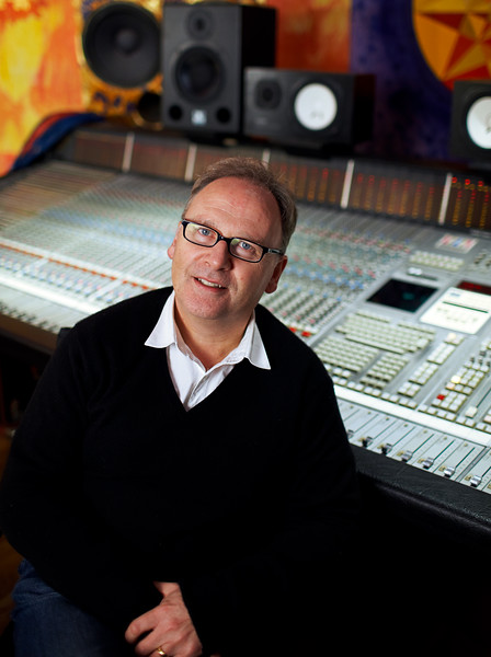 "Phil Harding behind SSL mixing console at Strongroom Studios, London<br /> PUBLISHED:  Resolution Magazine, UK   Watch the Phil Harding video interviews:  <a href=""http://www.recordproduction.com/phil_harding.htm"">http://www.recordproduction.com/phil_harding.htm</a>"