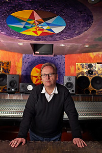 Phil Harding behind SSL mixing console at Strongroom Studios, London   Watch the Phil Harding video interviews:  http://www.recordproduction.com/phil_harding.htm