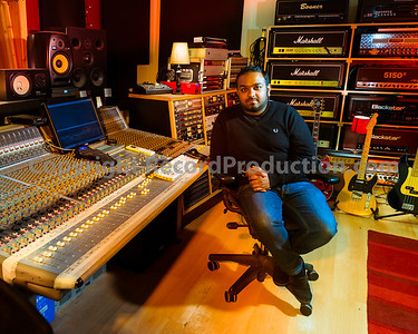 Rock music producer Romesh Dodangoda at Longwave Studios, Cardiff, UK  Watch our video interview with Romesh: http://www.recordproduction.com/record-producer-features/romesh-dodangoda-longwave.htm