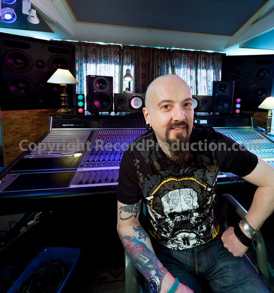 """Rock and metal music producer and recording engineer Simon Efemey at Chapel Recording Studios  --  Watch our VIDEO interview with Simon Efemey here:  <a href=""""http://www.recordproduction.com/record-producer-features/simon-efemey-chapel.html"""">http://www.recordproduction.com/record-producer-features/simon-efemey-chapel.html</a>"""