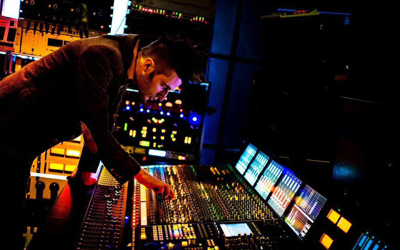 Stephen Watkins at Tape Studios, Edinburgh, UK