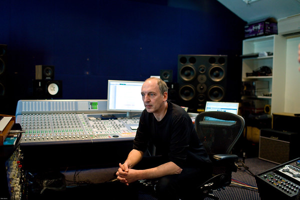 Music producer Stephen Lipson at the mixing desk in the recording studio   -   Watch our video interview with Steve Lipson:  http://www.recordproduction.com/steve-lipson-record-producer.html