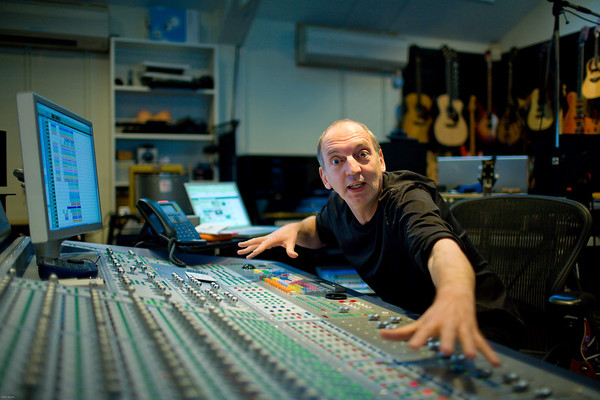 Music producer Steve Lipson at the mixing desk in the recording studio   -   Watch our video interview with Steve Lipson:  http://www.recordproduction.com/steve-lipson-record-producer.html