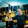 "Stephen Lipson poses by his guitar collection at SARM Studios London UK<br /> PUBLISHED:  Resolution Magazine, UK   -   Watch our video interview with Steve Lipson:  <a href=""http://www.recordproduction.com/steve-lipson-record-producer.html"">http://www.recordproduction.com/steve-lipson-record-producer.html</a>"