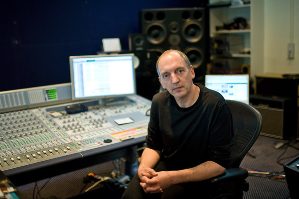 Record producer Steve Lipson at the mixing desk in the recording studio   -   Watch our video interview with Steve Lipson:  http://www.recordproduction.com/steve-lipson-record-producer.html