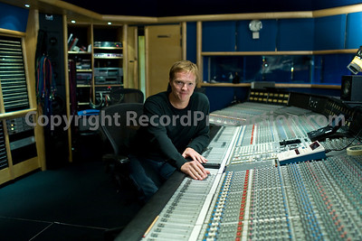 Recording engineer and music producer Steve Orchard at Air Recording Studios London with SSL mixing board  --  Watch Steve Orchard's VIDEO interview:  http://www.recordproduction.com/steve-orchard-record-producer-feature.htm