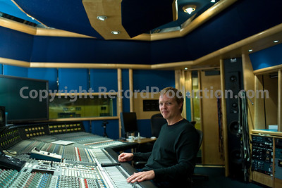 Recording engineer and record producer Steve Orchard at Air Recording Studios London with SSL mixing console  --  Watch Steve Orchard's VIDEO interview:  http://www.recordproduction.com/steve-orchard-record-producer-feature.htm