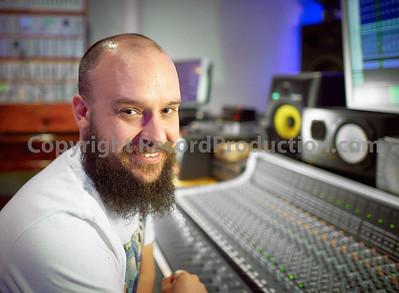 Tobin Jones behind his SSL at The Park Studios, London