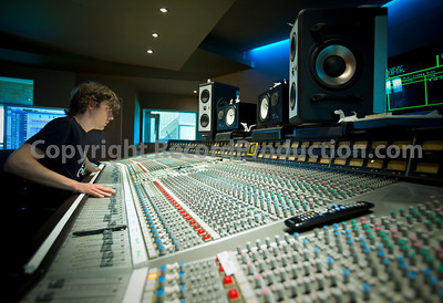 Engineer Sam behind the controls at Toby's Angelic Studios   --  Watch our VIDEO interview with Toby Smith: http://www.recordproduction.com/toby-smith.html