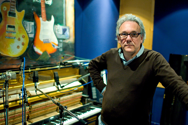 Legendary musician and record producer Trevor Horn in his recording studio PUBLISHED:  Resolution Magazine, UK.  Copied and seen on 100's of websites Watch our exclusive video interview with Trevor Horn here:  http://www.recordproduction.com/trevor-horn-record-producer.html