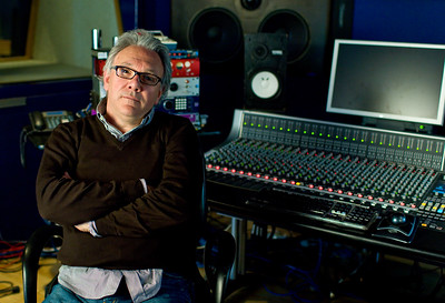 Trevor Horn with SSL AWS 900+ mixing console at SARM Studios London Watch our exclusive video interview with Trevor Horn here:  http://www.recordproduction.com/trevor-horn-record-producer.html