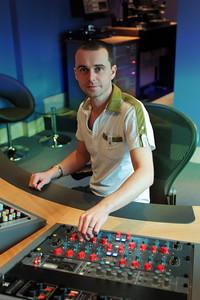Mastering engineer Matt Colton behind the controls at Air Mastering Studios, London